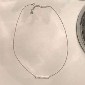 Jewelry - Crystal Bar Silver Necklace